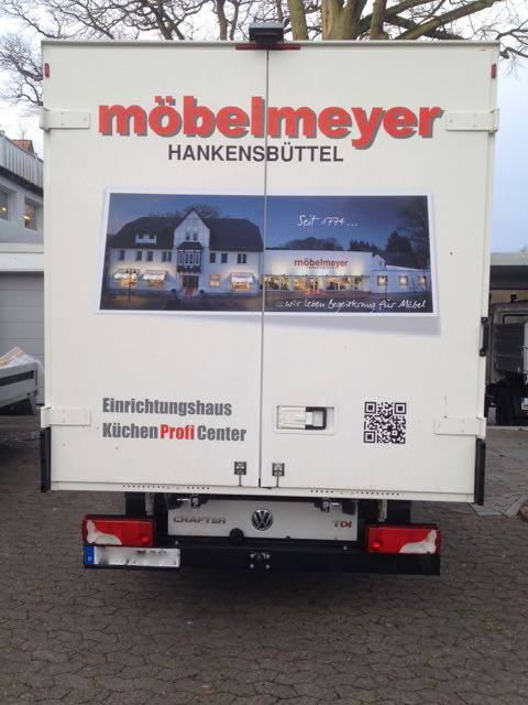 Fahrzeugbeschriftung Möbelmeyer